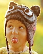 Image of Earflap Raccoon hat crochet pattern