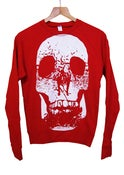 Image of SMUT Skull Women's Red Sweatshirt 