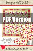 Image of Peppermint Twist Quilt Pattern #115, PDF Pattern