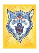 Image of Courage Wolf Print