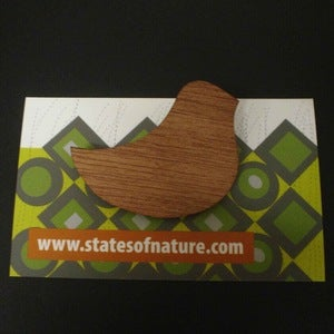 Image of Timber Birdy brooch