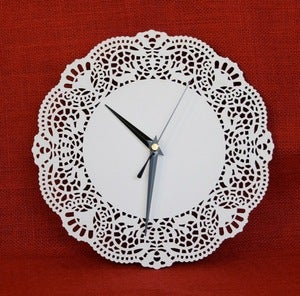 Doily Clock from Red Revival