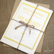 Image of Yellow Fern Invitation Set