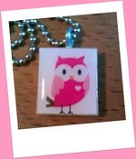 Image of Owl Always Love You Scrabble Tile Pendant
