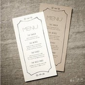 Image of Handdrawn Wedding Menu