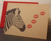 Image of Zebra Kiss note cards
