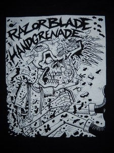 Image of RAZORBLADE HANDGRENADE T SHIRT 2