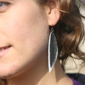 Image of Oak - Recycled Bike tube earrings