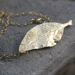 Image of 18K Gold Vermeil Leaf Necklace