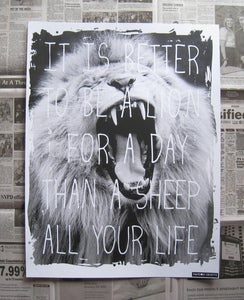 Image of Lion For A Day Poster