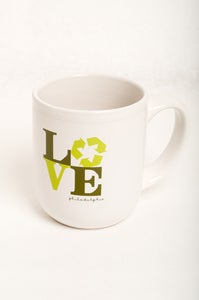 Image of Green Love Philadelphia Mug