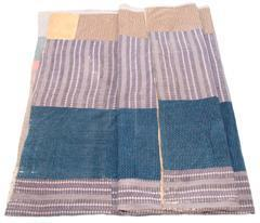 Image of Lavender Quilt with Indigo and Tan