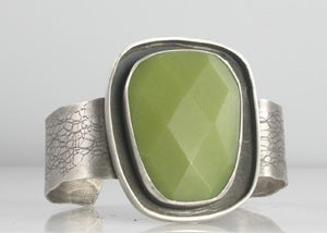 Image of Olive Jade Large Moat Cuff 