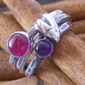 Image of birthstone stacking heart set