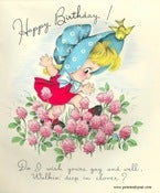 Image of Vintage Greeting Card - Happy  Birthday - 1947