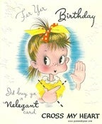 Image of Vintage Greeting Card - For Your Birthday - 1947