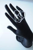 Image of Silver network multi shape ring