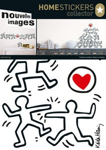 Image of KEITH HARING DANCERS AND HEART WALL STICKERS