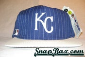 Image of VINTAGE KANSAS CITY ROYALS PIN STRIPE SNAPBACK