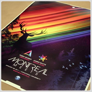 Image of Montreal Meets Poster - Signalnoise Collaboration