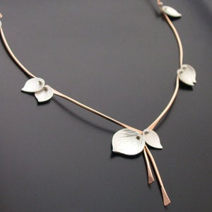 Image of Bamboo Necklace Rose Gold Filled