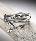 Image of Elvish Twine: dark sterling silver twig ring