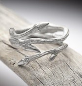 Image of Elvish Twine: sterling silver twig ring