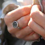 Image of Sterling Silver and Ebony Sisterhood Ring