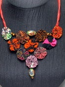 Image of Hana Silk Rosette Necklace MXN 1106