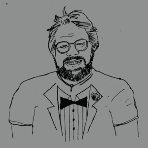 Image of the gentleman (steve wozniak tribute tee)