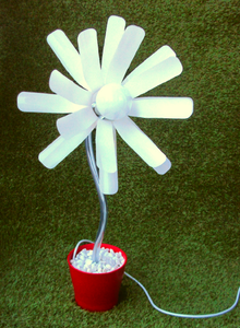 Image of BOTTLE FLOWER LAMP
