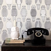 Image of Owls of the British Isles Wallpaper