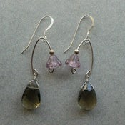 Image of Fishing Lure Inspired Earrings~Smoke &amp; Lavender