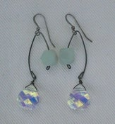 Image of Fishing Lure Inspired Earrings~ Aurora Borealis &amp; Amazonite