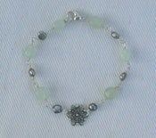 Image of Sea Green and Grey Pearl Filigree Bracelet