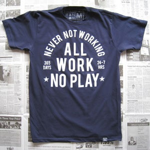 Image of Always Working (navy)