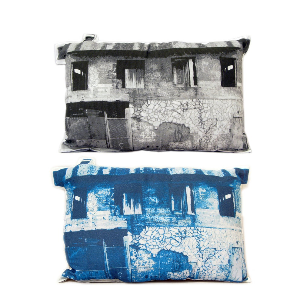 Image of Abandoned 2 Building Pillow