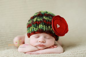 Image of Holly Handspun Christmas Beanie