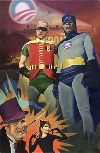 Image of Batmobama and Robiden  |  prints