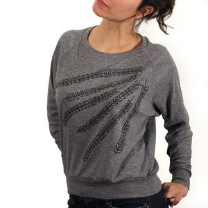 Image of Arrow Print Tri blend Pullover - (Heather Gray)