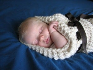 Image of Infant Baby Cocoon Crochet Pattern - Photography Prop PDF 025
