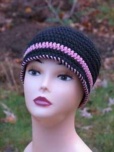 Image of Easy Ladies Beanie Crochet Pattern PDF 045