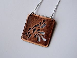 Image of Droplets Copper Pendant