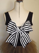 Image of slinky suzy jersey bow singlet