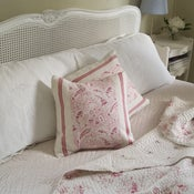 Image of Paisley and Linen Cushion