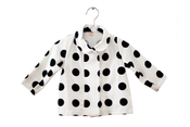 Image of Dark Navy Polk Dots Jacket