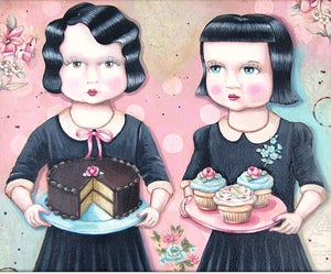Image of Allie & Amy cake cupcakes girls print M
