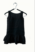 Image of Black Sleeveless Ruffle Dress