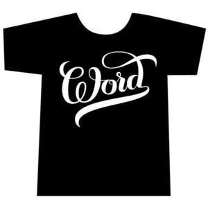Image of 'Word' tshirt