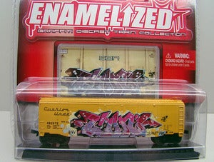 "Image of ""CON"" Maisto Enamelized - Graffiti Diecast Train Car (signed)"